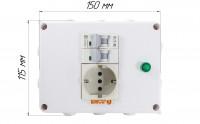 Автоматический выключатель с розеткой Grepan