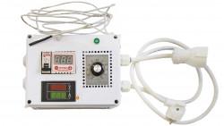 Блок управления: контроль мощности и температуры до 3 кВт    (с индикатором напряжения и силы тока)